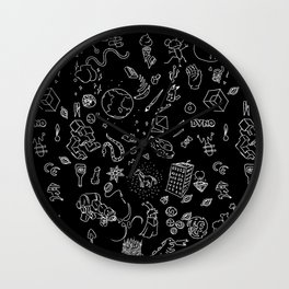 BLACK RANDOM HOPPER - TANUKI - OSCANIMATION Wall Clock