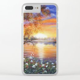 Untouched Beauty Clear iPhone Case