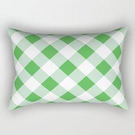 Gingham - Green Rectangular Pillow