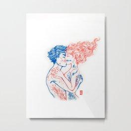 A Kiss That Makes You Bloom Metal Print