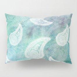 The Deep Blue Paisley Pillow Sham