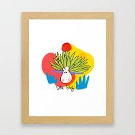 I'm a sea slug Framed Art Print