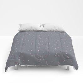 Gray Light Pink Shambolic Bubbles Comforters