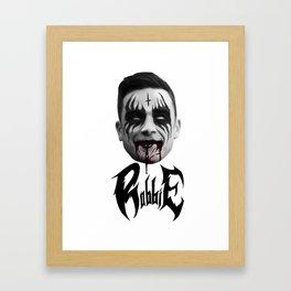 Black Metal Robbie Framed Art Print