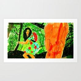 summer dress Art Print
