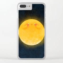 Shy Moon Clear iPhone Case