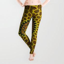 Yellow Arabic Mosaic Leggings