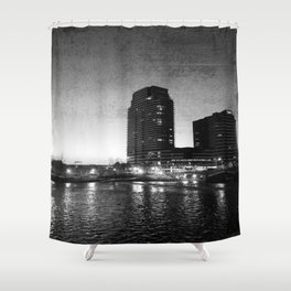 Night Downtown Shower Curtain