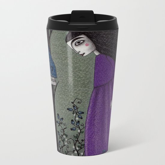 There is a Place in the Woods... Metal Travel Mug