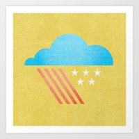 patriotic Art Prints featuring Patriotic Weather. by Nick Nelson