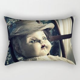 Old Creepy Doll with Funny Hat Rectangular Pillow