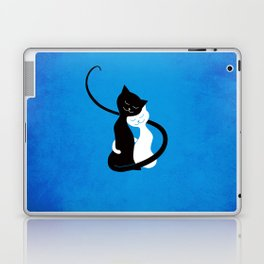 White And Black Cats In Love Laptop & iPad Skin
