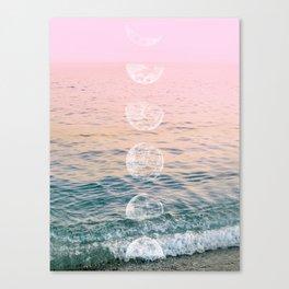 Moontime on the Beach Canvas Print