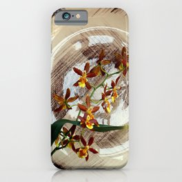 A Brushstroke Of Orchid Genus iPhone Case