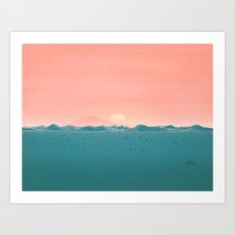 Geometric Landscape VH01 Art Print