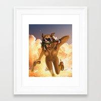 tank girl Framed Art Prints featuring Tank by PeppebBox