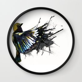 Back Winging Wall Clock