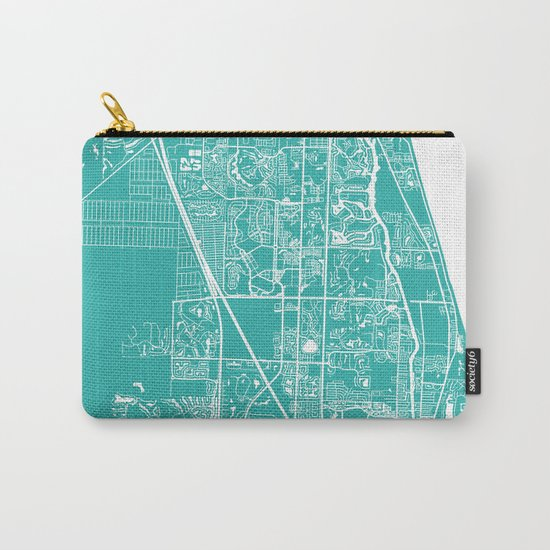 Jupiter FL map turquoise Carry-All Pouch