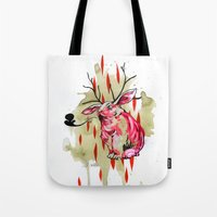jackalope Tote Bags featuring Jackalope by Manfish Inc.