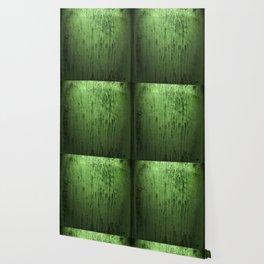 Old green window at night Wallpaper