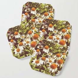 White Flowers Coaster