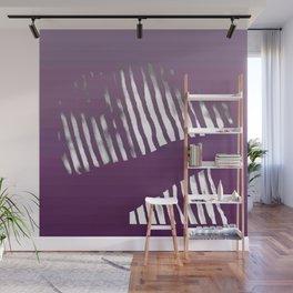 Purple Zebra Wall Mural