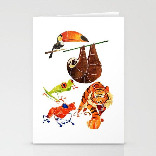 Rainforest animals 2 Stationery Cards