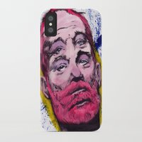 bill murray iPhone & iPod Cases featuring Bill Murray by Astrosim