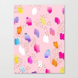 Watercolor abstract drops Canvas Print