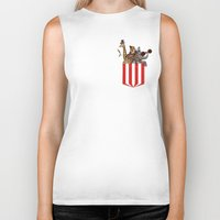 pocket Biker Tanks featuring Pocket Circus by Sachpica