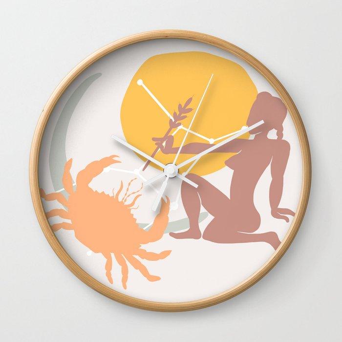 Virgo Sun Cancer Moon Wall Clock by moderatelyneurotic