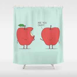 Apple Care Shower Curtain
