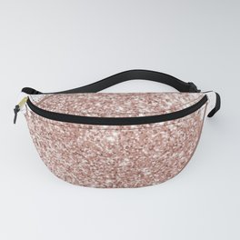 White Marble & Blush Pink Sparkles Fanny Pack