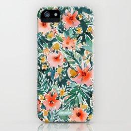 TROPICAL SNEEZE Watercolor Floral iPhone Case