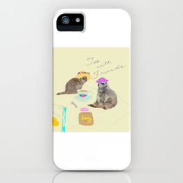Tea with Friends: Meercats iPhone Case