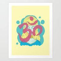 om Art Prints featuring Om by Monstruonauta