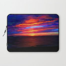Sunset by the sea - Painting Style Laptop Sleeve