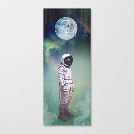 Moon Balloon Canvas Print