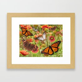 Wild butterfly flowers on sacred protected land Framed Art Print