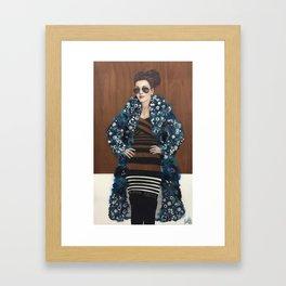 Behind Blue Mink Framed Art Print