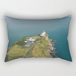Aerial view of Baily Lighthouse, Ireland  Rectangular Pillow