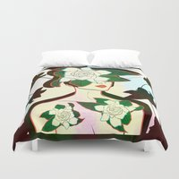 window Duvet Covers featuring WINDOW by Bluetiz