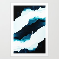 Teal Isolation Art Print