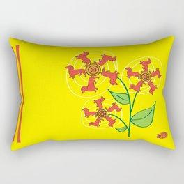 Doxie Flower Rectangular Pillow