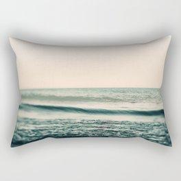 Turquoise Morning Rectangular Pillow