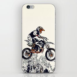 """High Flyer"" Motocross Racer iPhone Skin"