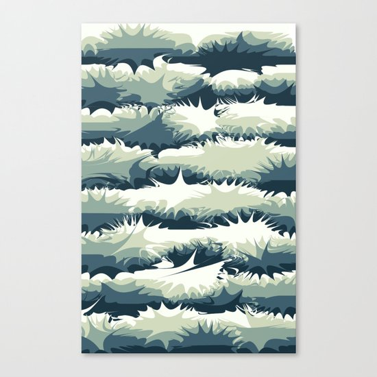 Explosions in the water Canvas Print