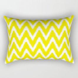 Golden Yellow Asian Moods Ikat Chevrons Rectangular Pillow