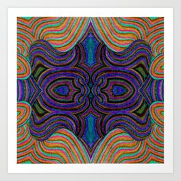 SwankyDoodleSandy Colorblind Repeat Art Print