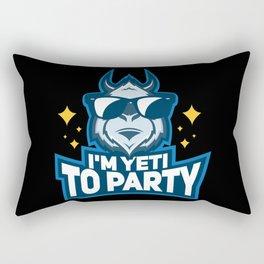 Yeti & Party Gift: I'm Yeti To Party I Bigfoot I Creature Rectangular Pillow
